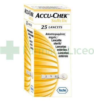 ACCU-CHEK SOFTCLIX LANCETAS 25 U