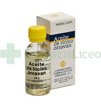 ACEITE DE RICINO ORRAVAN 100% SOLUCION ORAL 25 G