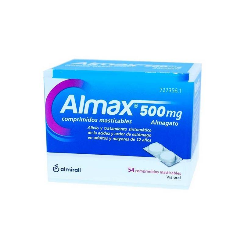 ALMAX 500 MG 54 COMPRIMIDOS MASTICABLES