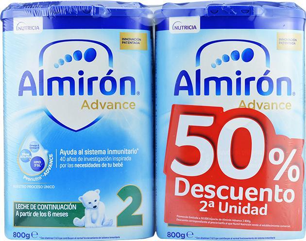 ALMIRON ADVANCE + PRONUTRA 2 2 ENVASES 800 G PACK AHORRO