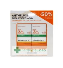 ANTHELIOS PACK GEL CREMA TOQUE SECO 50 ML SPF 50+ 50%2ªU