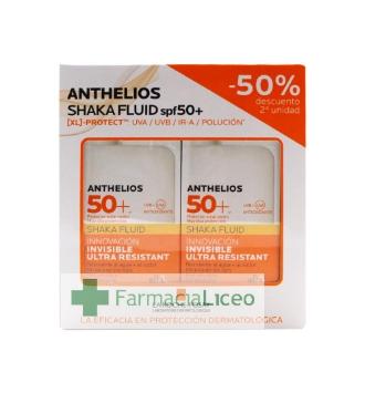 ANTHELIOS PACK SHAKA FLUID 50 ML SPF 50+ 50%2ªU