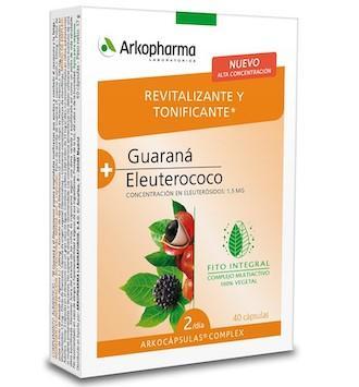 ARKOCAPSULAS  COMPLEX GUARANA-ELEUTEROCOCO 40 C