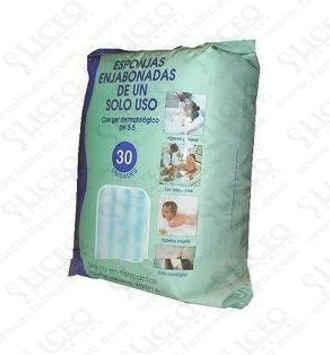BEGOBAÑO ESPONJA ENJABONADA DESECHABLE 30 ESPONJAS