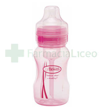 BIBERON 0 BPA BA DR BROWN´S NATURAL FLOW ROSA 24