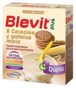 BLEVIT PLUS 8 CEREALES Y GALLETAS DUPLO 600 GR