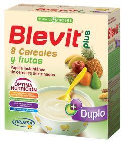 BLEVIT PLUS DUPLO 8 CEREALES Y FRUTAS 600 GR