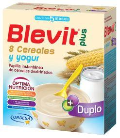 BLEVIT PLUS DUPLO 8 CEREALES Y YOGURT 600 GR