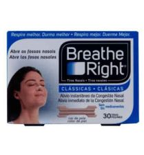 BREATHE RIGHT TIRA NASAL COLOR T- GDE 30 U