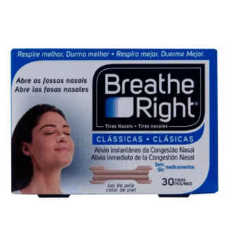 BREATHE RIGHT TIRA NASAL COLOR TALLA GRANDE 30 UNIDADES