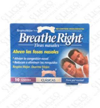 BREATHE RIGHT TIRA NASAL TALLA GRANDE 10 UNIDADES