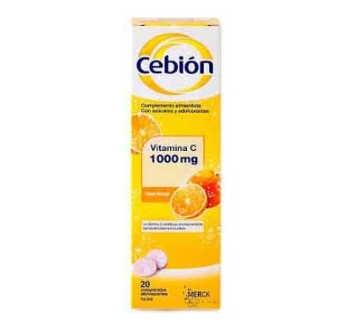 CEBION 1000 COMPRIMIDOS EFERVESCENTES 20 COMPRIM