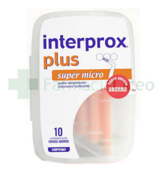 CEPILLO DENTAL INTERPROXIMAL INTERPROX PLUS SUPER MICRO 10 UNIDADES