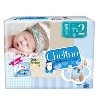 CHELINO FASHION & LOVE PAÑAL INFANTIL T- 2 (3 -6kg) 28 UDS