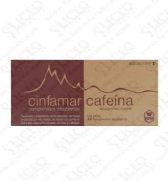 CINFAMAR CAFEINA 50/50 MG 10 COMPRIMIDOS