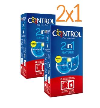 CONTROL 2IN1 NATURE PRESERVATIVOS 6 + 6 U PACK AHORRO