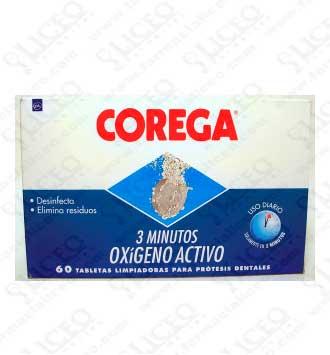 COREGA 3 MINUTOS LIMPIEZA PROTESIS DENTAL 60 TABLETAS