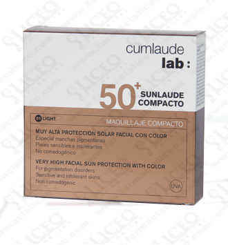CUMLAUDE LAB: SUNLAUDE COMPACTO SPF 50+ COLOR TONO 02 MEDIUM 10 GR