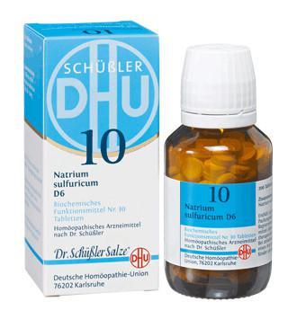 DHU NATRIUM SULFURICUM 6D SAL DE SCHUESSLER Nº10