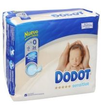 DODOT SENSITIVE RECIEN NACIDO TALLA 0 HASTA 3 KG 24 U