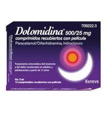 DOLOMIDINA EFG 500/25 MG 10 COMPRIMIDOS RECUBIERTOS