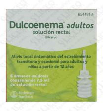 DULCOLAXO GLICEROL 6.75 G SOLUCION RECTAL 6 ENEM
