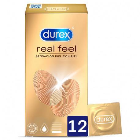 DUREX REAL FEEL PRESERVATIVO SIN LATEX 12 UNIDADES
