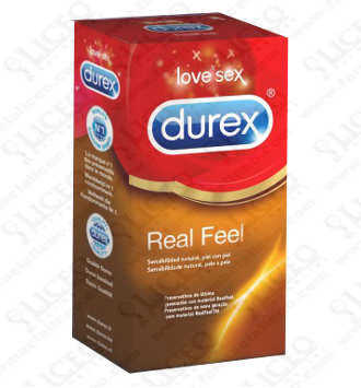 DUREX REAL FEEL PRESERVATIVO SIN LATEX 12 UNIDADES
