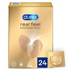 DUREX REAL FEEL PRESERVATIVO SIN LATEX 24 U