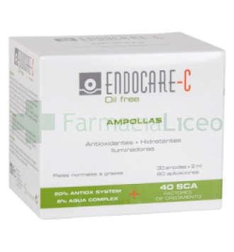 ENDOCARE C OILFREE 2 ML 30 AMPOLLAS