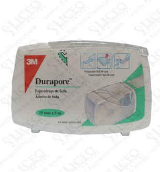 ESPARADRAPO HIPOALERGICO DURAPORE SEDA PORTAR 5 x 2,5 CM