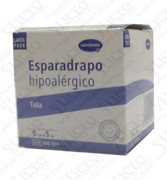 ESPARADRAPO HIPOALERGICO HARTMANN TELA 5 Mx 5 CM BLANCO