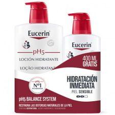 EUCERIN FAMILY PACK LOCION PH5 1L+400 ML