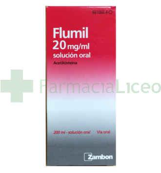 FLUMIL 100 MG/5 ML SOLUCION ORAL 200 ML