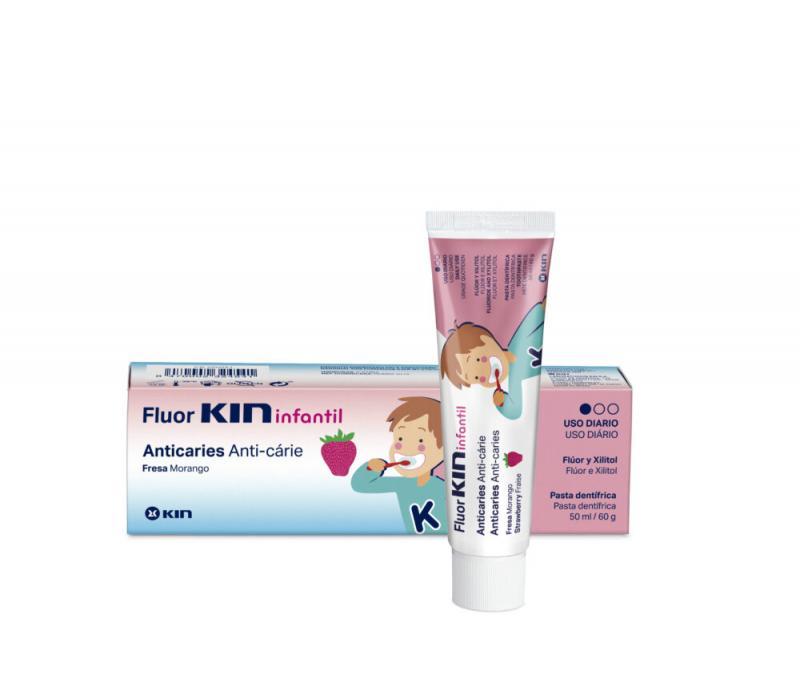 FLUOR KIN INFANTIL PASTA DENTÍFRICA FRESA 50 ML
