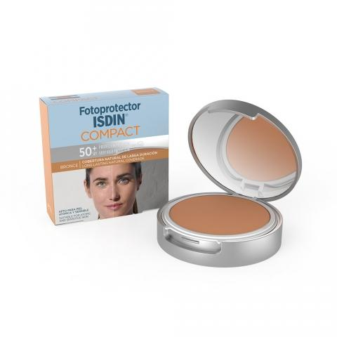 FOTOPROTECTOR ISDIN COMPACT SPF-50 MAQUILLAJE COMPACTO COLOR BRONCE