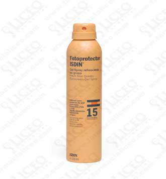 FOTOPROTECTOR ISDIN SPF-15 GEL SPRAY REFRESCANTE 200 ML