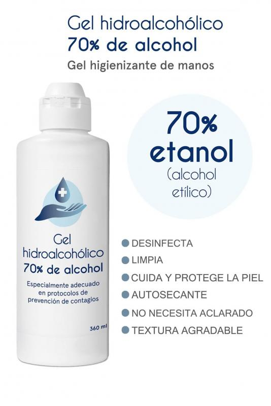 GEL HIDROALCOHOLICO 70% DE ALCOHOL DISOP 360 ML