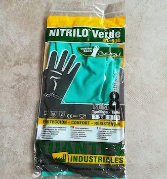 GUANTES BEHOLI NITRILO INDUSTRIAL T-8