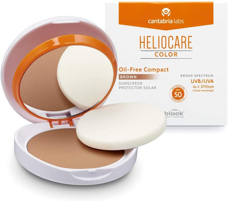 HELIOCARE COMPACTO OIL FREE SPF 50  COLOR BROWN 10 GR