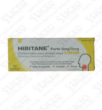 HIBITANE FORTE 20 COMPRIMIDOS PARA CHUPAR LIMON