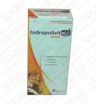 HIDROPOLIVITAL JUNIOR COMPRIMIDOS MASTICABLE 40 COMPRIMIDOS