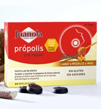 JUANOLA PASTILLAS BLANDAS PROPOLIS 48 GR SABOR REGALIZ