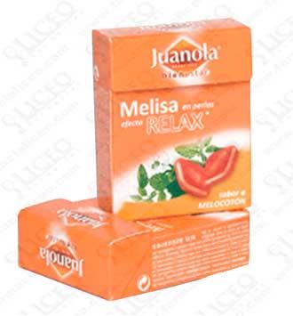 JUANOLA PERLAS 25 GR MELISA SABOR MELOCOTON