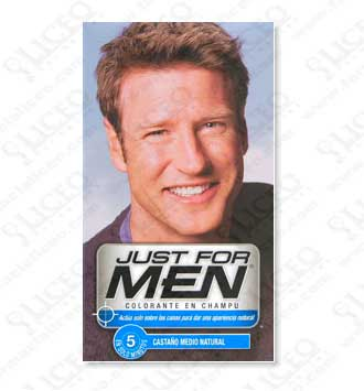 JUST FOR MEN CHAMPU COLORANTE 30 CASTAÑO MEDIO NATURAL