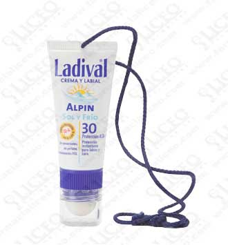 LADIVAL ALPIN FOTOPROTECTOR FPS 30 ALTA LABIAL Y FACIAL 20 ML
