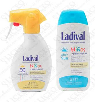 LADIVAL NIÑOS 50+ SPRAY 200 ML DUPLO +AFTER SUN NIÑOS 200 ML