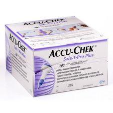 LANCETAS ACCU-CHEK ESTERIL SAFE-T-PRO PLUS 200 U