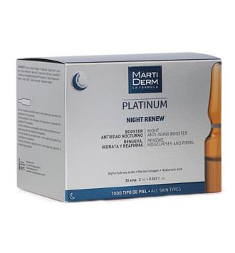 MARTIDERM PLATINUM NIGTH RENEW BOOSTER 30 AMPOLLAS