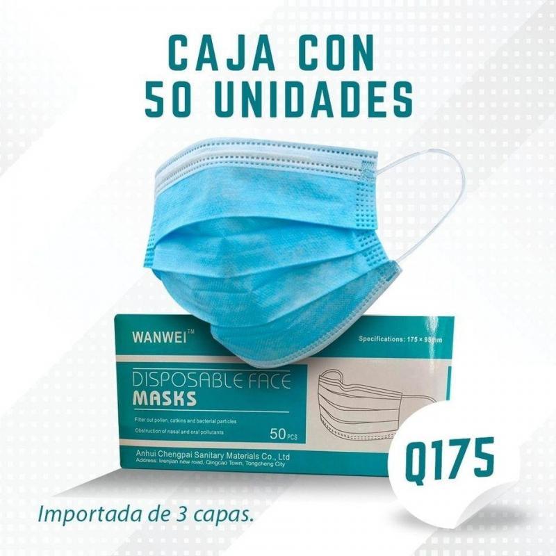 MASCARILLA FACIAL QUIRURGICA 50 UNIDADES